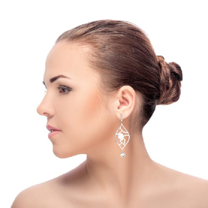 Chandelier Earrings – Sterling Silver and Akoya Pearls
